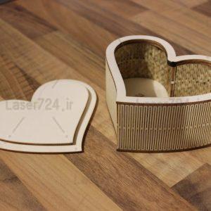 جعبه جواهرات قلبی شکل