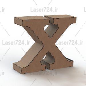 باکس حرف X