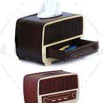 جعبه دستمال طرح رادیو