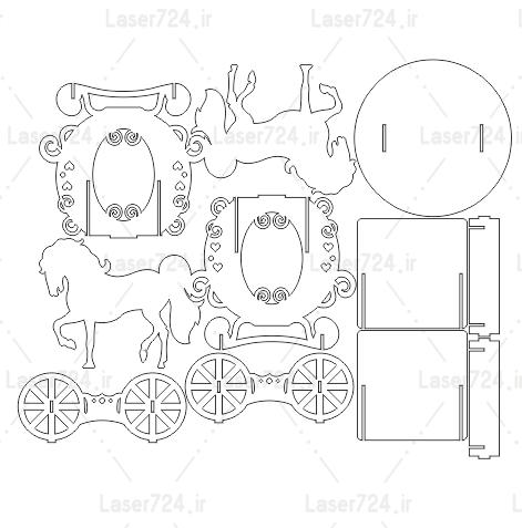 ماکت اسب و کالسکه