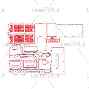 جا دستمالی طرح کامیون