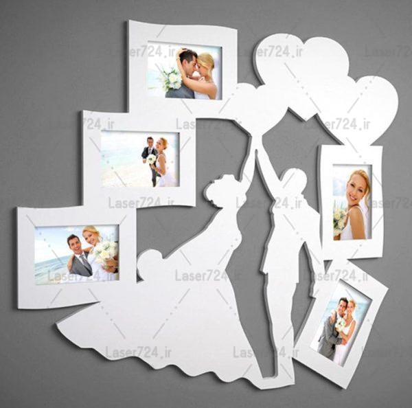 قاب عکس طرح عروس و داماد
