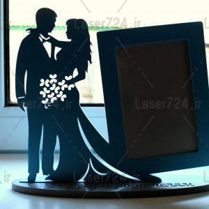 قاب عکس عروس و داماد