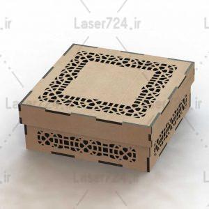 طرح لیزر جعبه کادویی