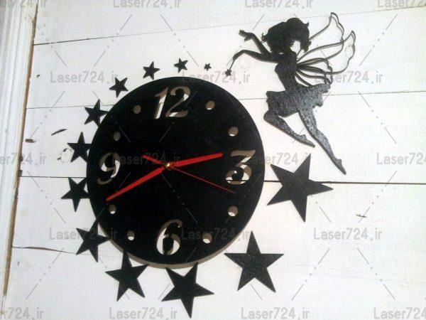 طرح لیزری ساعت دیواری