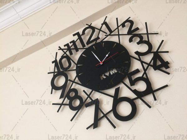 طرح لیزری ساعت