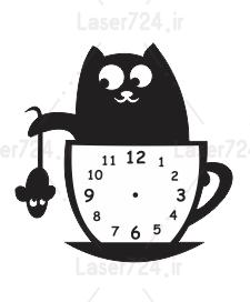 ساعت دیواری طرح موش و گربه