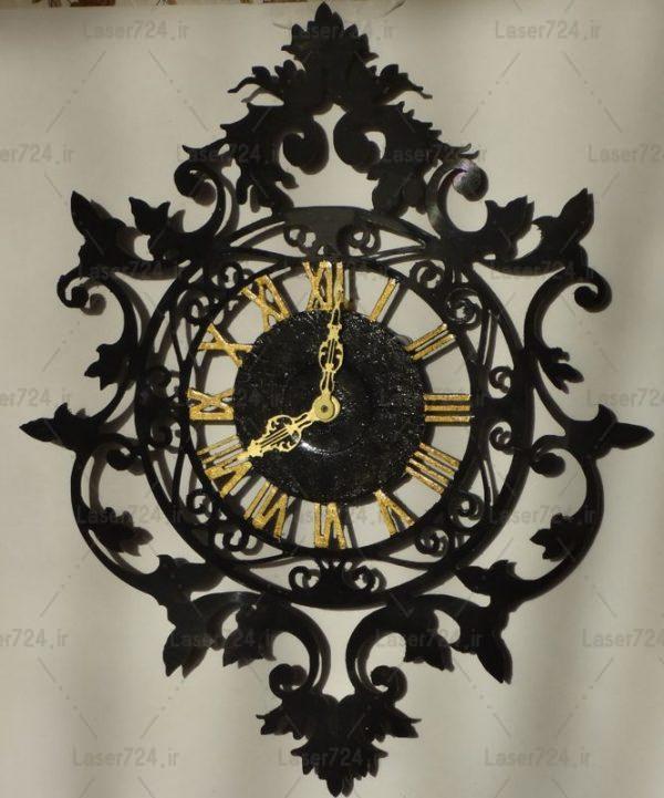 طرح لیزری ساعت شیک