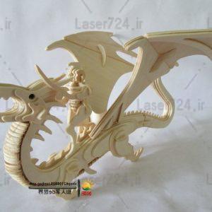 طرح لیزری اژدها