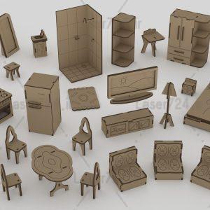 پازل سه بعدی وسایل خانه