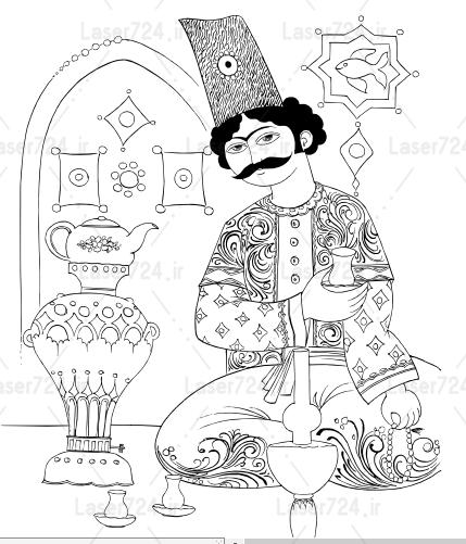طرح مینیاتور میرزا