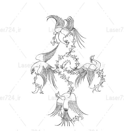 تابلو معرق مینیاتور پرنده