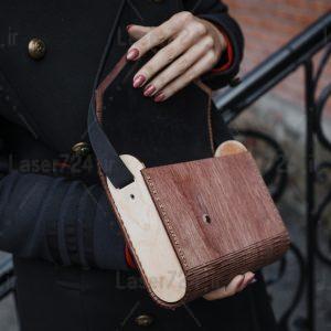 طرح کیف چوبی