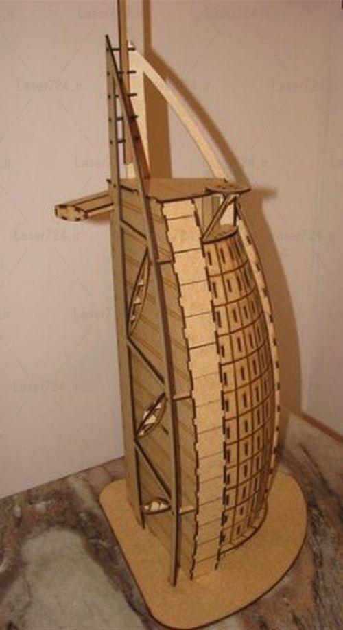 طرح لیزر برج خلیفه
