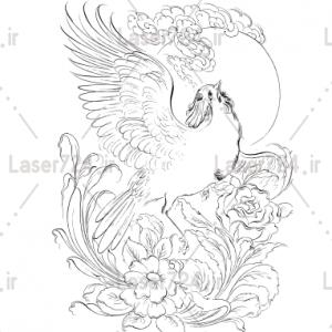طرح تابلو مینیاتور پرنده