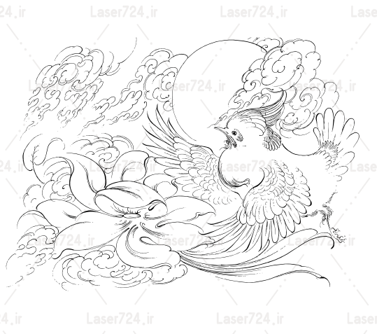 طرح مینیاتور پرنده