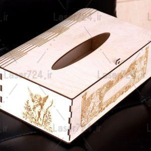 طرح لیزر جعبه کلینکس