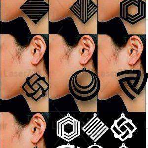 طرح لیزری گوشواره