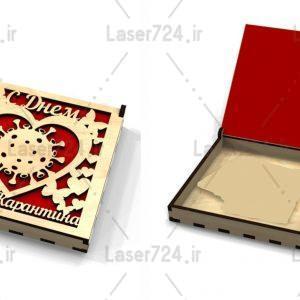 طرح لیزری جعبه جواهرات