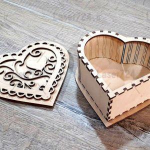 جعبه طرح قلب