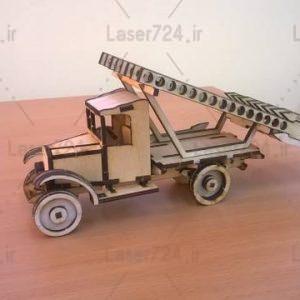 طرح لیزر ماکت ماشین جنگی