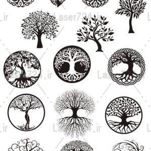 طرح لیزر وکتور درخت