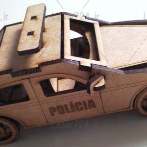 پازل سه بعدی ماشین پلیس