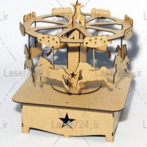 طرح لیزر چرخ و فلک